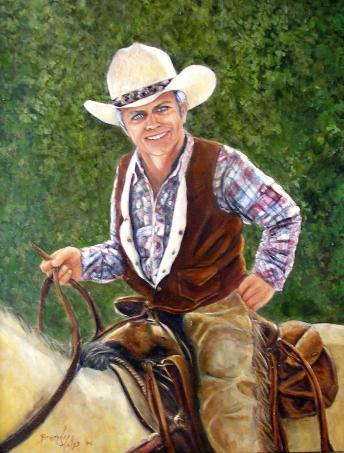 western pleasure ride adult painting