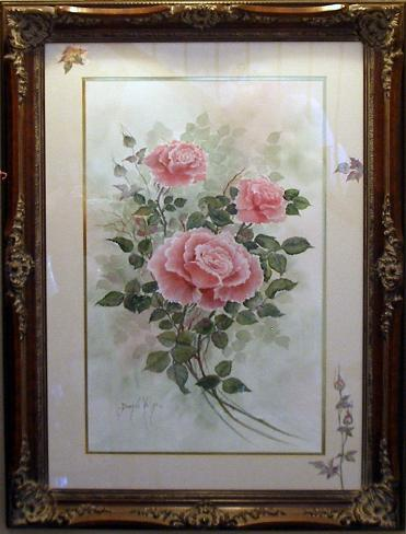 Pink Watercolor Rose Painting